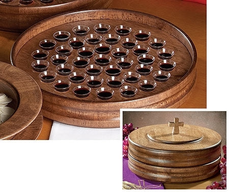 Handcrafted Maple Communion Tray (Series JT112)