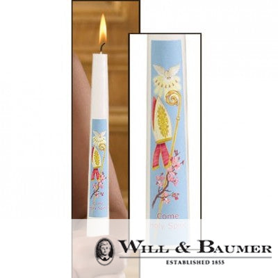 "Confirmation Candle: ""Come Holy Spirit"" (Case of 24)"