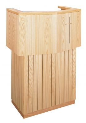 Wooden Pulpit no Cross Design (Style 3721)