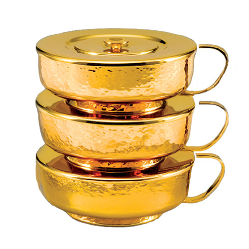 Stacking Ciborium with Hammered Finish and Satin Interior (Style 4210)