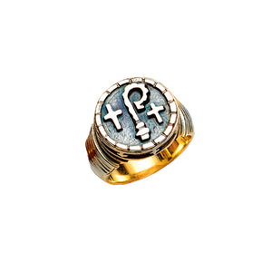 Bishop's Ring in Silver Oxidized Finish (Style 4391)