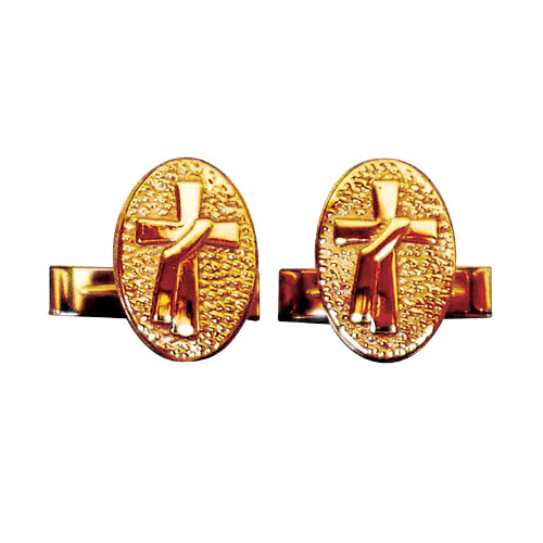 Deacon's Cuff Links in Sterling Gold Plate (Style 4401)