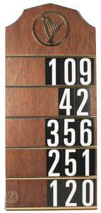 "79"" Floor Model Hymn Board with Black Stand (Style 4005SB)"