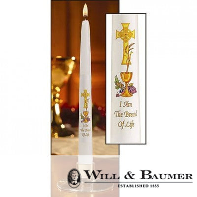"Communion Candle: ""Chalice and Grapes"" (Case of 24)"