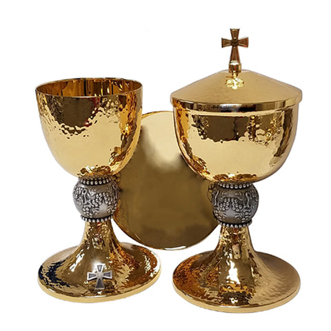 Chalice with Paten and Ciborium Set (Style 490250)