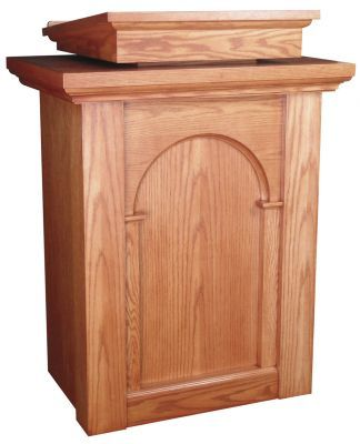Wooden Pulpit with Two Inside Shelves (Style 590)