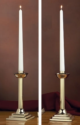 Altar Candlestick Set - Brass (Series KC485)
