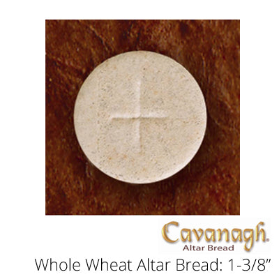 "Whole Wheat Altar Bread: 1-3/8"" Dia. (Cavanagh Brand)"