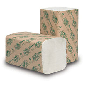 Single-Fold Towels, Eco-Soft: White