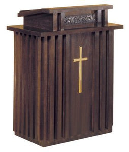 Wooden Pulpit with Two Inside Shelves (Style 2050)