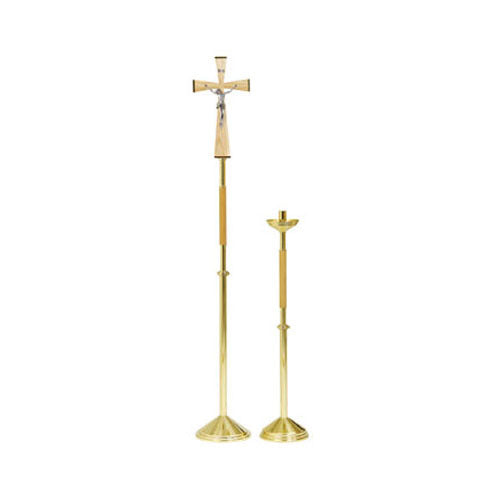 Processional Paschal Candlestick with Plexiglass Wax Protector (Style K755)