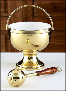 Gold Holy Water Pot with Sprinkler Set (Series MS881)