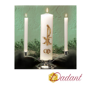 Wedding Unity Candle Set: Elegant Gold