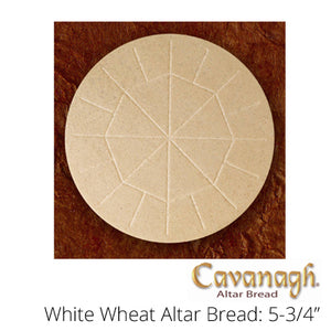 "Whole Wheat Altar Bread: 5-3/4"" Dia. (Cavanagh Brand)"