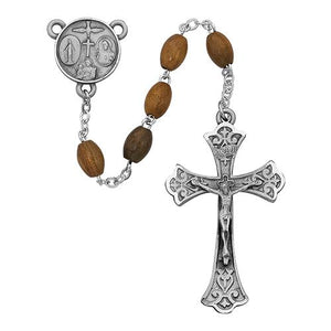 5X7mm Olive Wood Oval Rosary (Style: 172D/F)