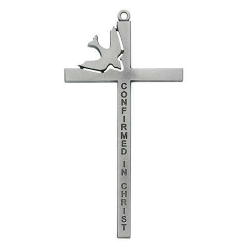 "6"" Pewter Confirmation Cross (Style: 77-37)"