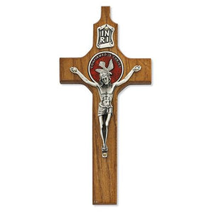 "6"" Walnut Confirmation Crucifix (Style: 77-36)"