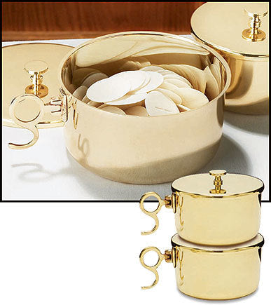 150 Host Brass Stacking Ciborium with Lid (Series NS029)