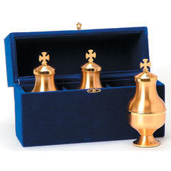 High Polished Ambry Set with Blue Case (Style K305)