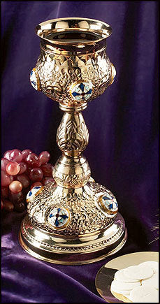 Ornate Cross Chalice with Paten (Series MC933)