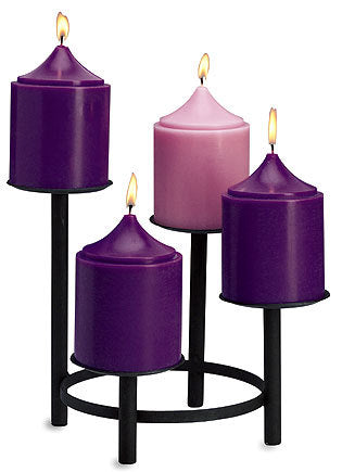 "Advent Church Set Candles: 4"" x 6"" (Style: 48058)"