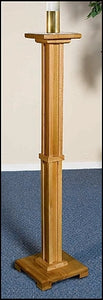 Paschal Candleholder (Pecan Finish)
