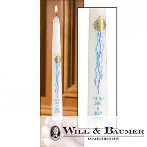 "Baptismal Candle: ""Three in One"" (Case of 24)"