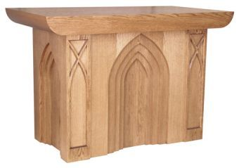 "Wooden Communion Altar, 72"" x 38"" (Style 636)"