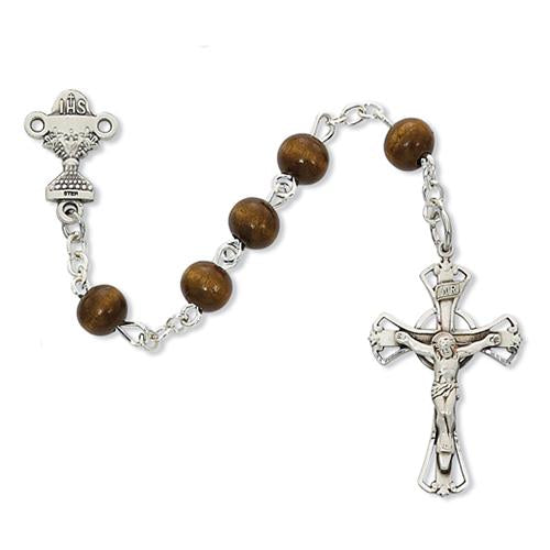 6mm Brown Wood Rosary (Style: C7B)