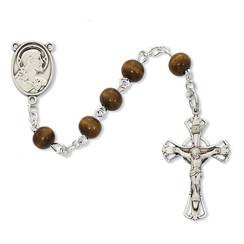 6mm Brown Wood Rosary (Style: C8B)