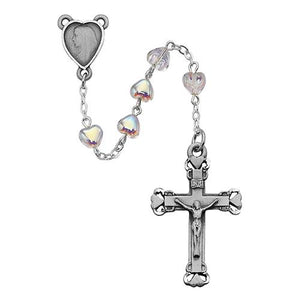 6X6mm Crystal Heart Rosary (Style: 921D/F)