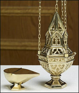 Ornate Censer and Boat Set (Series TS948)