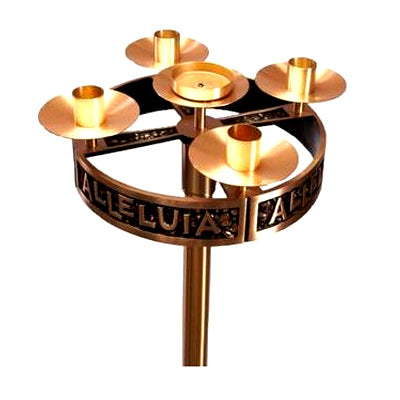 "Bronze Advent Wreath - 17"" Dia."