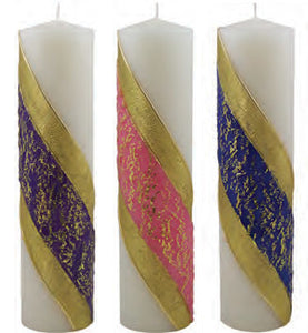 "Advent Candles : Advent Pillars 3"" x 11"""