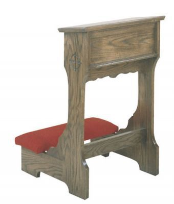 Wedding Prie Dieu with Shelf and Padded Armrest (Style 58WA)