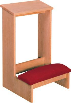 Prie Dieu, Unfinished, Paddrd Kneeler (Style 2304)