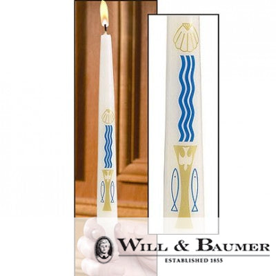 "Baptismal Candle: ""Water & Holy Spirit"" (Case of 24)"