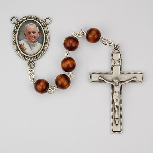 7mm Brown Wood Pope Francis (Style: R540DF)
