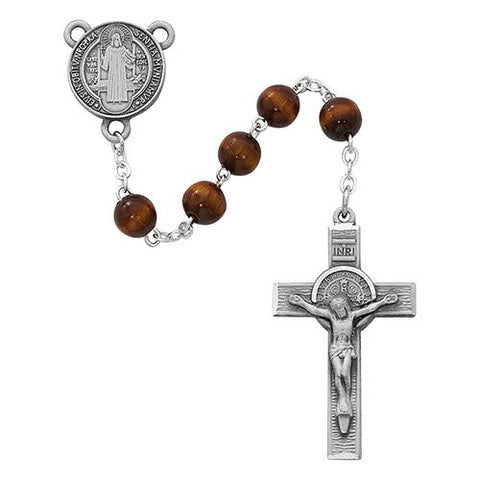 7mm Pewter Brown St. Benedict (Style: R546DF)