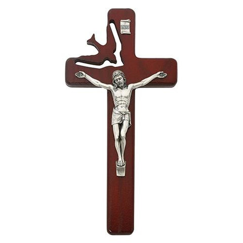 "8"" Cherry Holy Spirit Crucifix (Style: 77-21)"