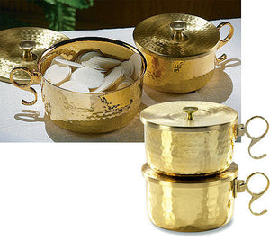 1000 Host Brass Stacking Ciborium with Lid (Series JC715)