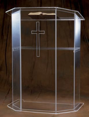 Acrylic Pulpit without Cross (Style 3350)