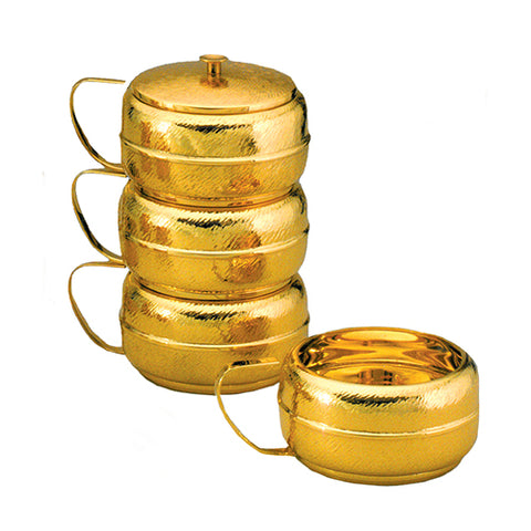 Stacking Ciboria Polished Gold Interior - No Lid (Style 853-500)