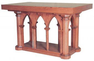 "Wooden Communion Altar, 84"" x 36"" (Style 537)"