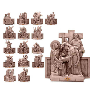Stations Of The Cross (Statuary Bronze Finish) (Series 1111-153)