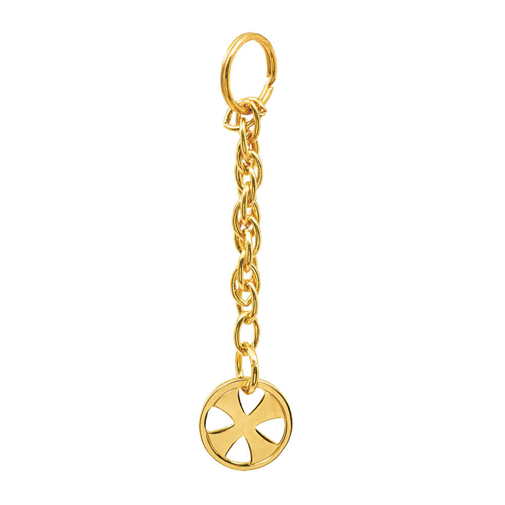 Tabernacle Key Cain  24K Gold Plated (Style K136)