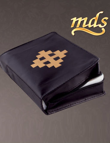 Real Leather Breviary Case with Jerusalem Cross (Style: 9556JUR)
