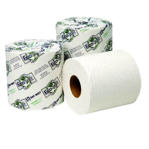 EcoSoft 2-Ply Single Roll Bath Tissue