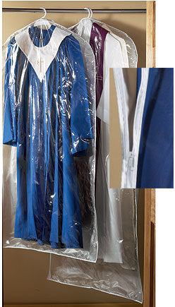 Large Deluxe Clear Vinyl Vestment Bag - 2 Pack (Series ED087)