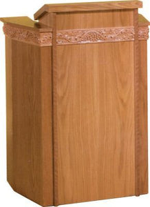 Wooden Pulpit with Two Inside Shelves (Style 6017)